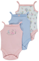 George 3 Pack Strappy Assorted Bodysuits