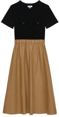 Claudie Pierlot Two-Tone T-Shirt Dress