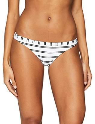 Seafolly Women's Inka Stripe Brazilian Pant Bikini Bottoms White), UK