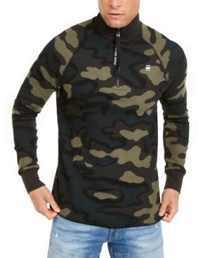 G Star Men's Jirgi Quarter-Zip Camo Sweatshirt