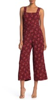 Madewell Floral Sleeveless Tie Bow Back Jumpsuit