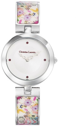 Christian Lacroix Womens Analogue Quartz Watch with Stainless Steel Strap CLWE26