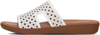 FitFlop H-Bar Latticed Leather Slide Sandals