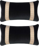 Miles Talbott Collection S/2 Robertson 12x23 Pillows, Black