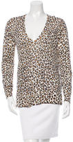 Equipment Leopard Print Silk Sweater