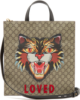 Gucci Angry Cat-print GG Supreme canvas tote
