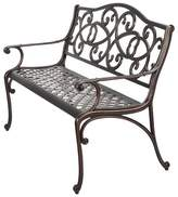 Christopher Knight Home Laughlin Cast Aluminum Patio Bench - Copper