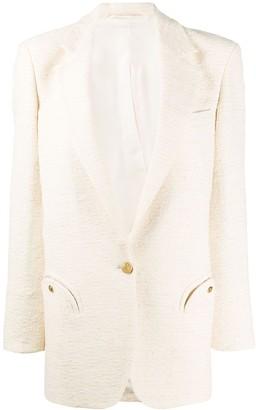 BLAZÉ MILANO Textured Single-Breasted Blazer