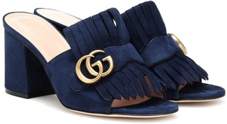 Gucci Marmont suede sandals