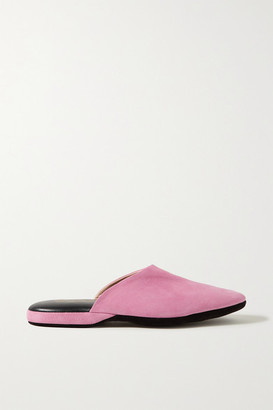 Charvet Suede Slippers - Baby pink