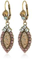 Sorrelli Rustic Bloom Semi Precious and Crystal Statement Drop Earrings