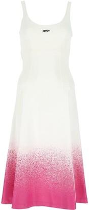 Off-White Paint Splatter Effect Dress
