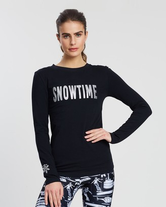 Snuxe - Women's Black Printed T-Shirts - Snowtime Tee - Size One Size, XS at The Iconic