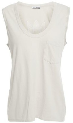 James Perse Embroidered Cotton-jersey Tank