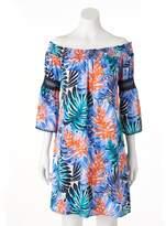 JLO by Jennifer Lopez Women's Off-the-Shoulder Smocked Dress