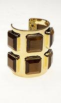 Noir.  Square semi-precious cuff bracelet