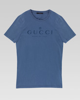 Gucci Logo Crew Tee, Indigo