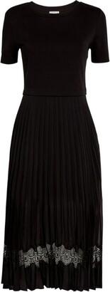 Claudie Pierlot Pleated Midi Dress
