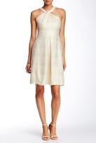 Shoshanna Twisted Halter Sparkle Dress