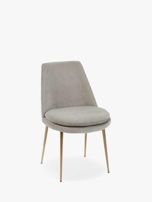 west elm Finley Velvet Dining Chair, Taupe