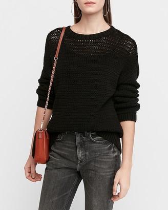 Express Knit Crew Neck Tunic Sweater