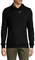 2xist Zippered Shawl Collar Sweater