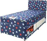 Airsprung Kids Stars and Butterflies Single Storage Divan with FREE Headboard