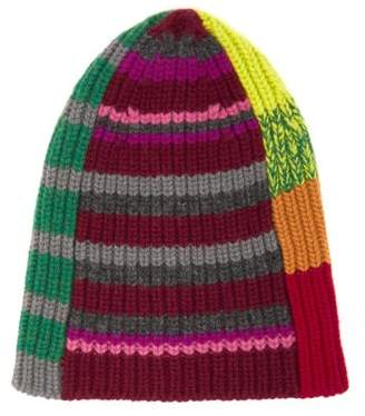 Colville - Striped Patchwork Beanie Hat - Womens - Multi