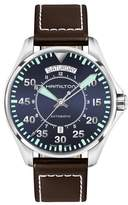 Hamilton Khaki Pilot Automatic Leather Strap Watch, 42mm