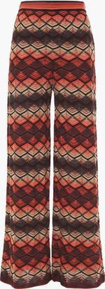 M Missoni Crochet-knit Wool-blend Wide-leg Pants