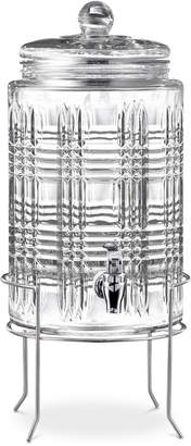 Jay Imports Portland 2-Gallon Beverage Dispenser with Glass Lid & Rack