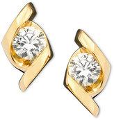 Sirena Earrings, 14k Gold Diamond Stud (1/3 ct. t.w.)