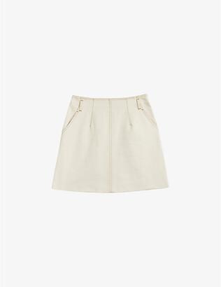 Ted Baker Borbun high-waist denim skirt
