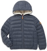 Save The Duck Little Kid's & Kid's Basic Faux Shearling-Lined Hooded Puffer Jacket