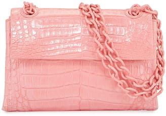 Nancy Gonzalez Madison Crocodile Adjustable Chain Mini Shoulder Bag