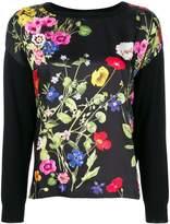Blugirl poppy print sweatshirt