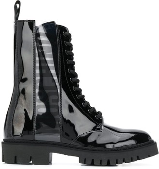 Moschino Military-Style Ankle Boots