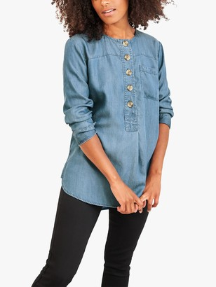 White Stuff Holly Denim Tunic Top, Blue
