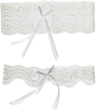 iCollection Women's Stretch Lace Garter Set