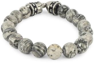 Jean Claude Stainless Steel Beaded Bracelet