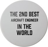 Fotomax Ceramic round coaster with THE 2ND BEST Aircraft Engineer IN THE WORLD