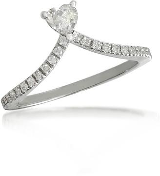 Forzieri Heart Diamond V-Shaped Band Ring