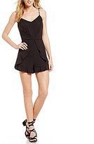 GB Strappy Ruffled Romper