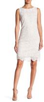 Eliza J Sleeveless Shift Lace Dress