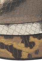 Brian Atwood Fontanne in Metallic Snake Print