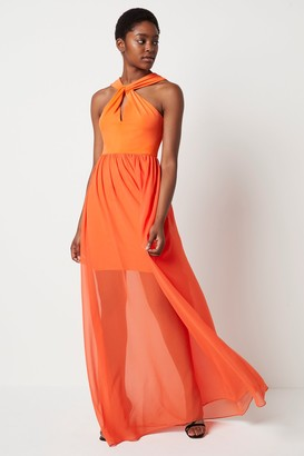 French Connenction Panthea Jersey Halter Maxi Dress