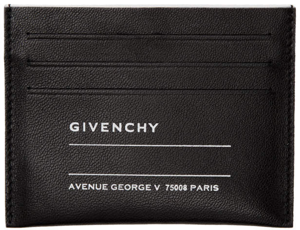Givenchy Black Iconic Print Card Holder