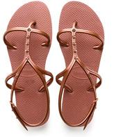 Havaianas Women's Sandals - Bronze & Nude Allure Maxi Sandal - Women