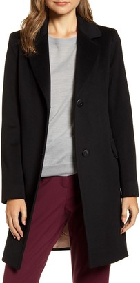 Fleurette Notched Collar Wool Walker Coat