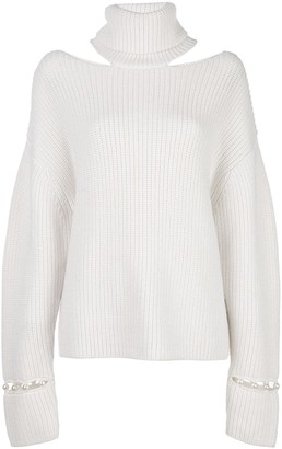 Alice + Olivia Alice+Olivia Lara open-shoulder jumper